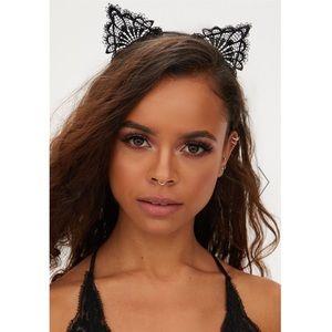 Sexy Black Lace Cat Ears Headband